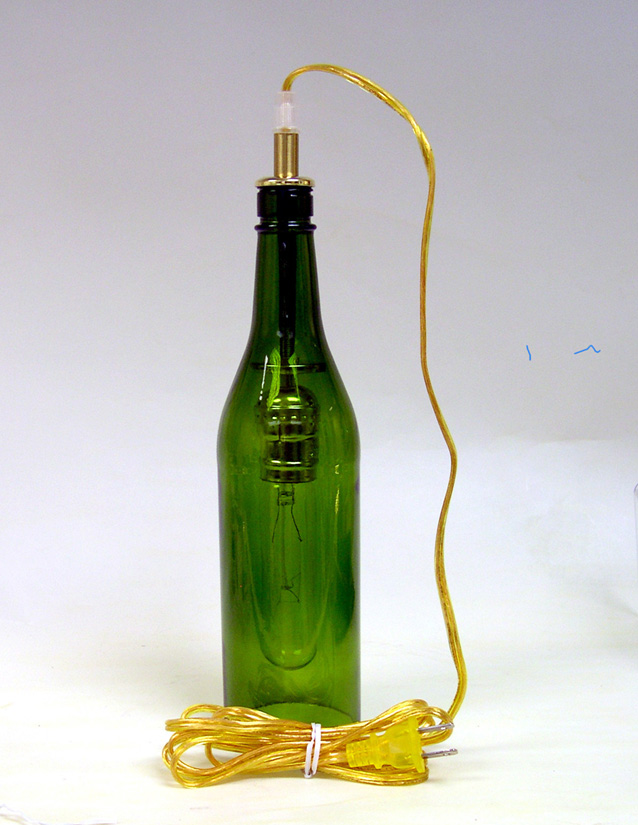 Wine bottle hanging lamp kits national artcraft a wine bottle hanging lamp kit aloadofball Image collections